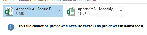 attachment preview excel email