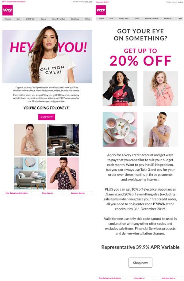 exemplo de email marketing para ecommerce de pré-compra