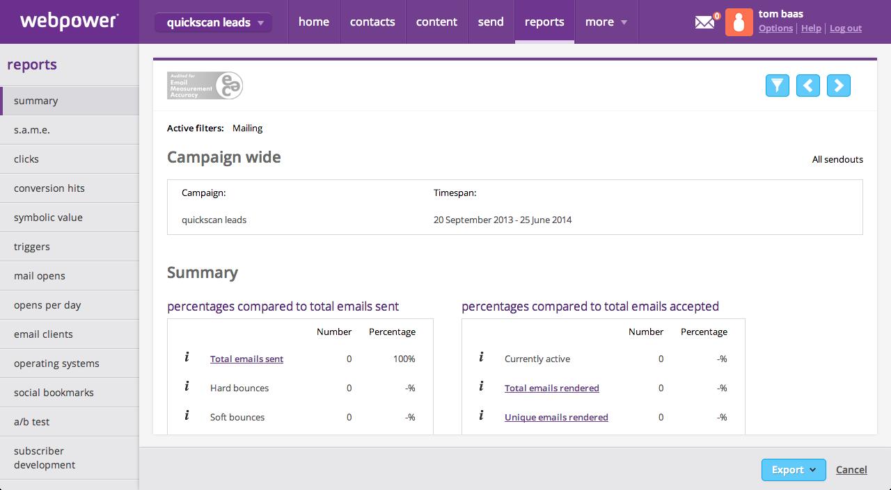 webpower_Reportsscreen