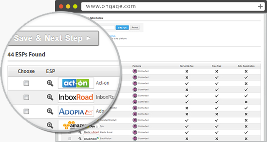 ongage-multiple-email-servers