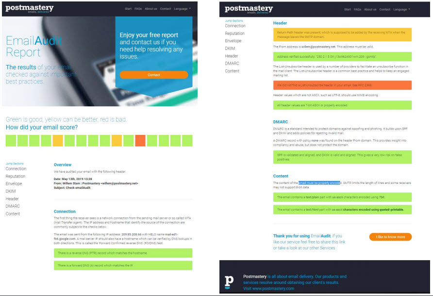 New EmailAudit deliverability checking tool - Email vendor selection