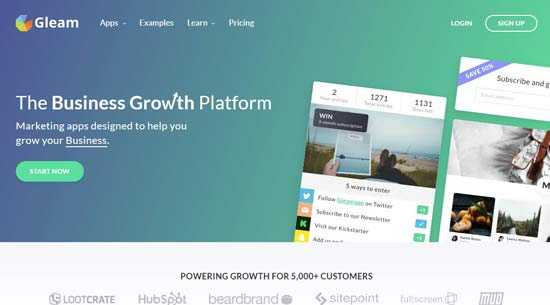 gleam best list growth tools