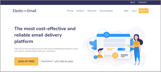 elastic email marketing software
