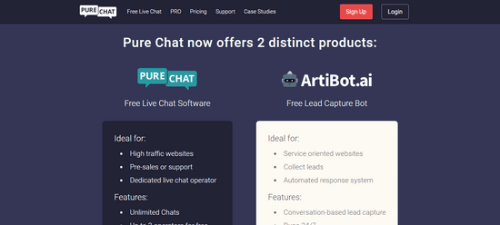 purechat live chat leads