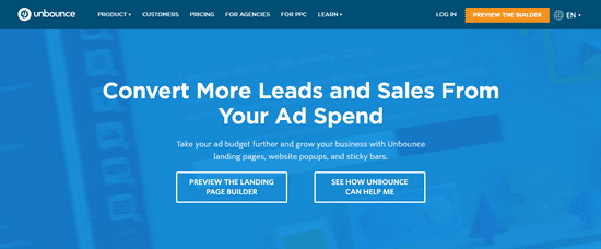 unbounce lead sales generation