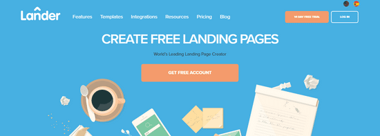 landar landingpage creator for leads