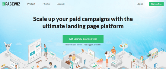 pagewiz landing page optimize