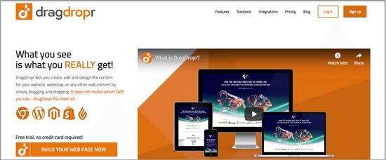 dragdropr webpage builder