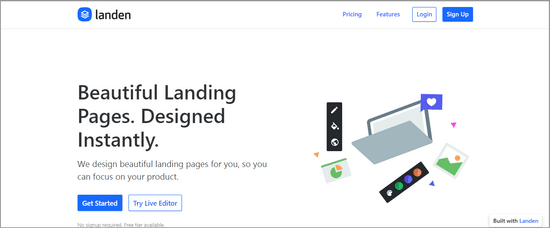 landen lead capture page builder