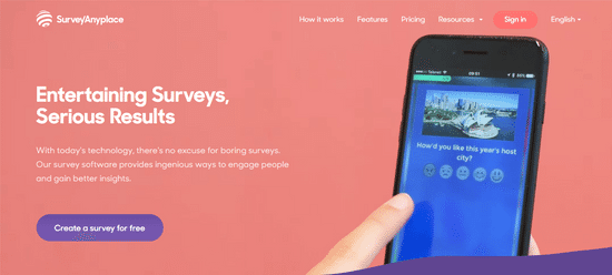 survey anyplace survey maker