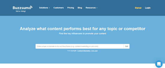 buzzsumo content discovery