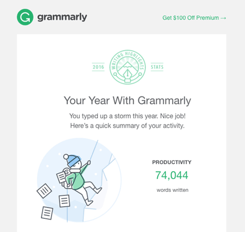 grammarly email example attachment