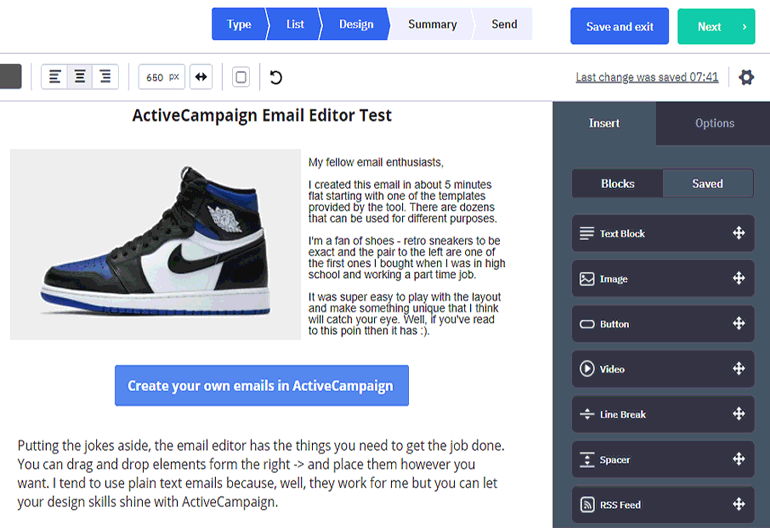 Active campaign email editor review