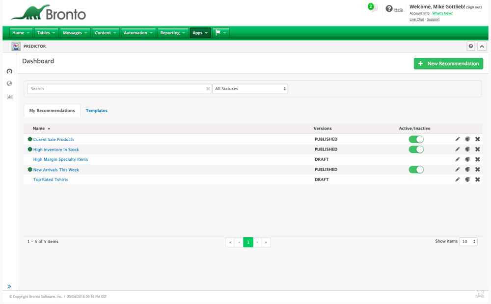 Bronto-Predictor-Dashboard