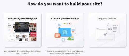 GetResponse review website builder