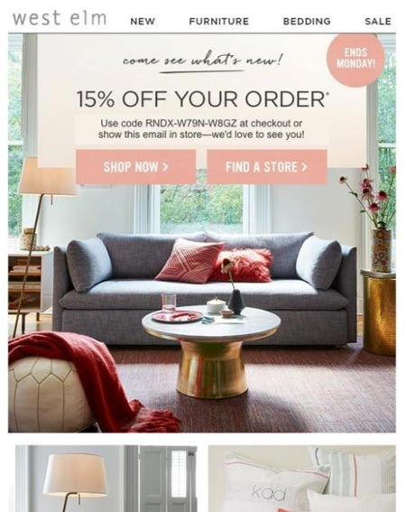 Lapsed customer email template unique coupon