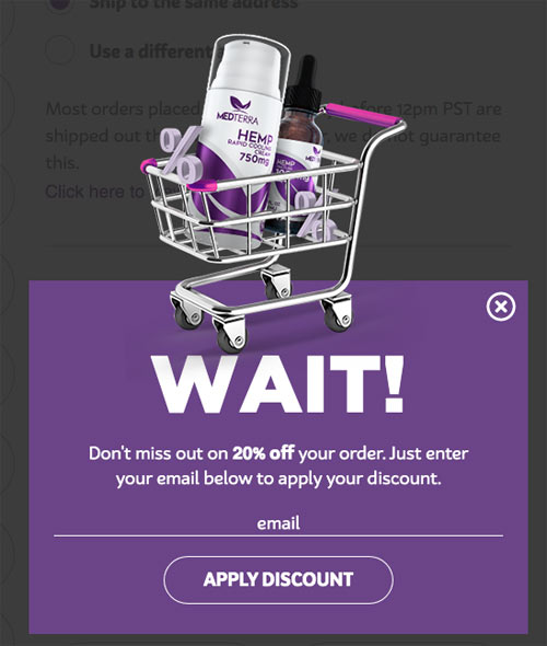 Email Opt in Checkout Design