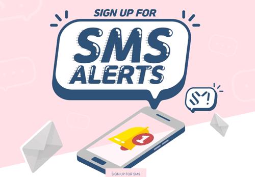 SMS signup Shop
