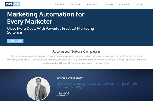 acton b2b marketing automation hubspot