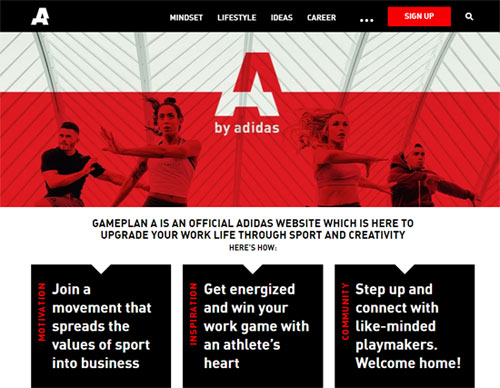 adidas gameplan A content fashion email