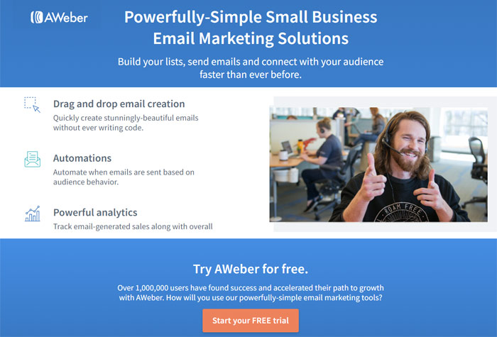 aweber mailchimp alternatives autoresponder