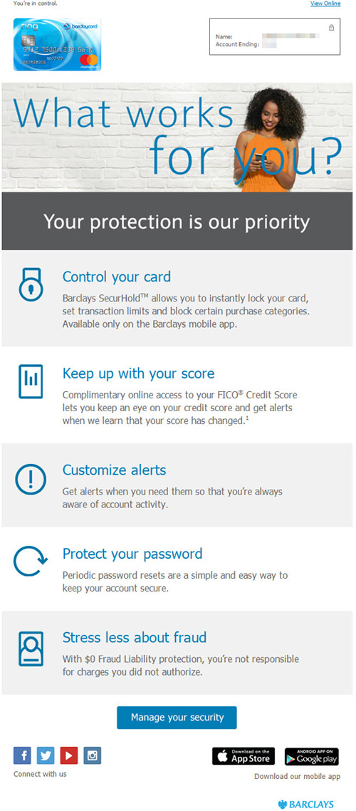 barclaycard financial credit-card profile enrichment email