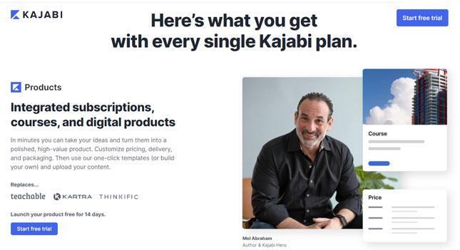 best online course software all in one Kajabi