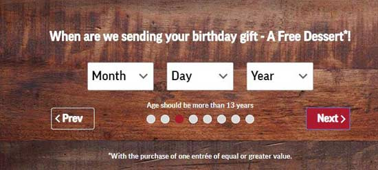 birthday gift email subscription