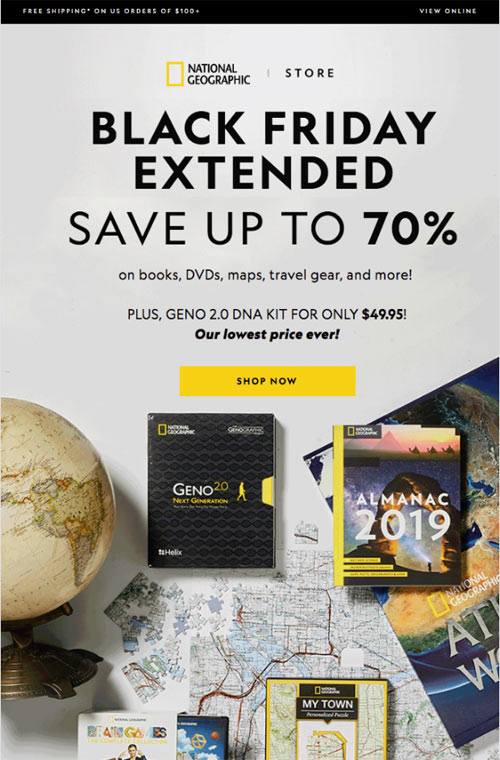 black friday example email