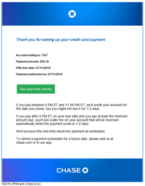 chase creditcard payment-statements transactional email small