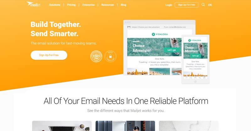 cheap email marketing system mailjet
