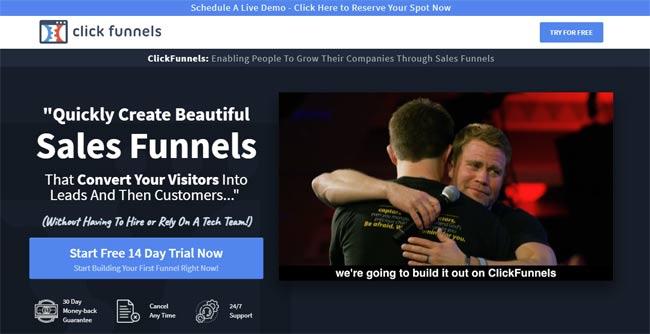 clickfunnels sales funnel builder