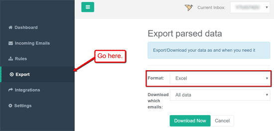 email parser to csv or excel