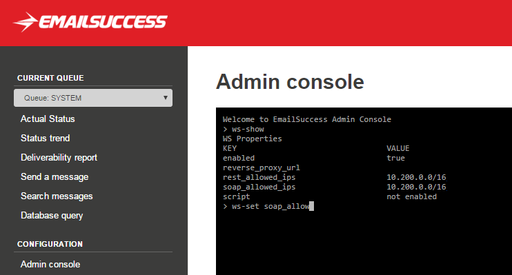 emailsuccess-admin-console