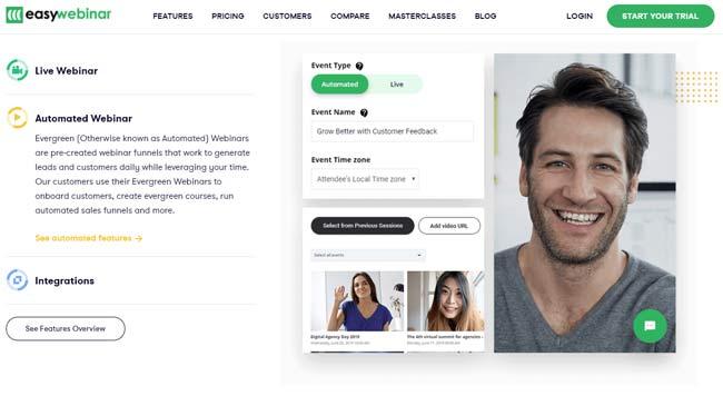 evergreen automated webinar easywebinar