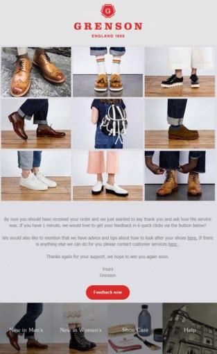 fashion apparel email marketing grenson case study