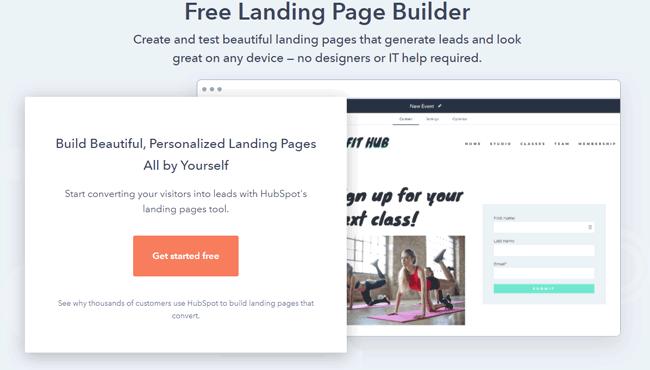 free landing page builder