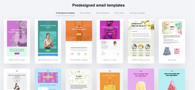 getresponse email templates