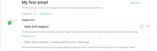 getresponse getting started email designer