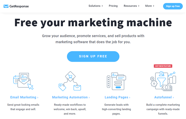 getresponse marketing automation compettitor hubspot