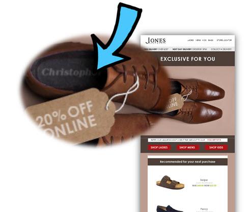 jones bootmaker econd purchase campaign