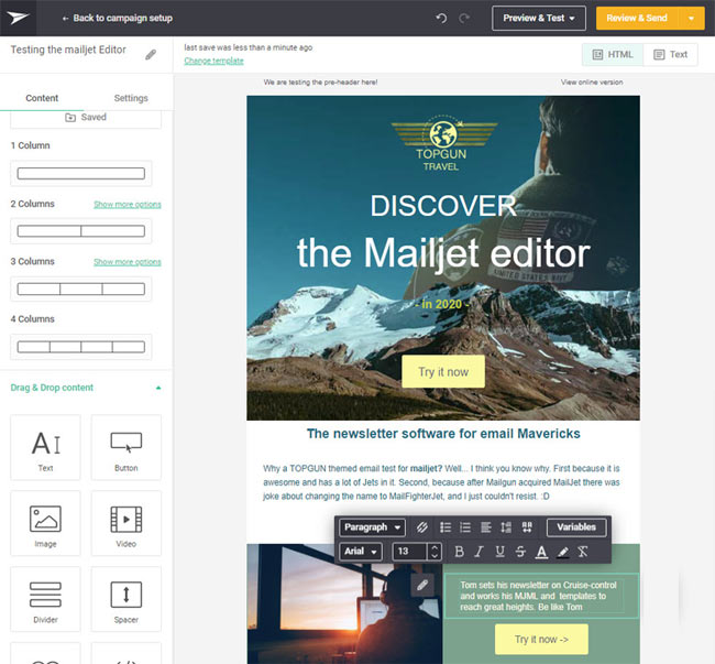mailjet lowcost email software provider