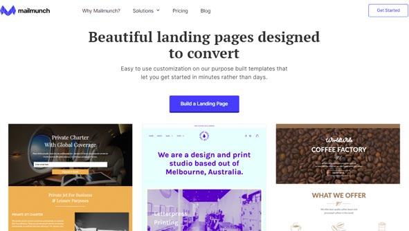 mailmunch best landing page builder