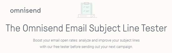 omnisend email subject line tester