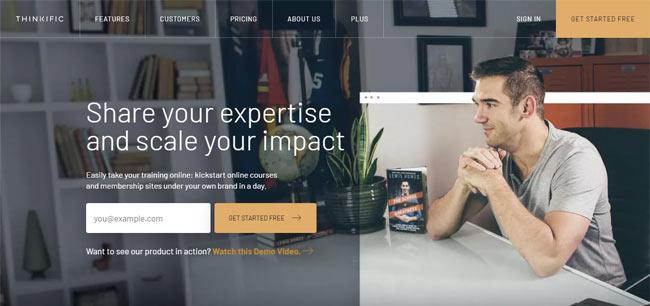 online course platform building thinkific