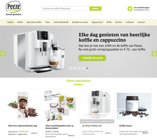 peeze magento shop ecommerce example