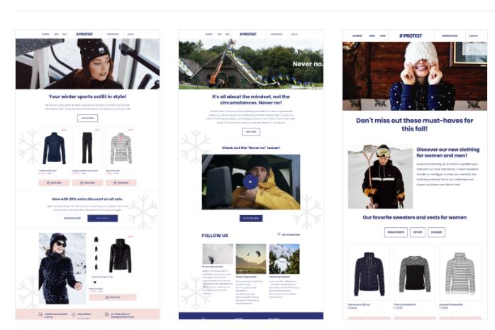 seasonal email marketing fashion protest