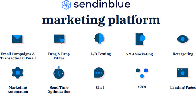 SendinBlue's prime features and tools