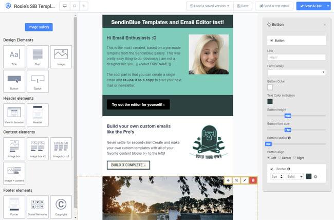 sendinblue template email marketing review