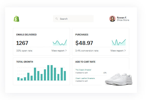 Shopify email analytics